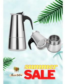 Thrive Stainless Steel Coffee Maker Pot Moka