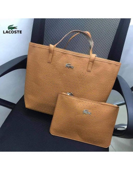 Lacoste tote with sling and pouch