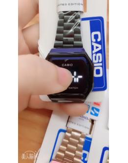 Casio Touch Screen Electronic Watch Steel Belt LED Digital Watches Waterproof Fashion Watch A168W