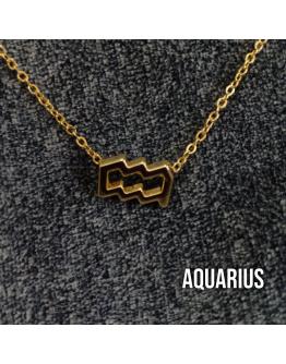 Zodiac Sign Necklace (AQUARIUS)