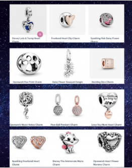 PANDORA CHARMS  3in1