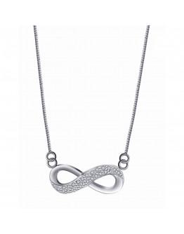 925 Silver Center Chain Necklace - LN - 034