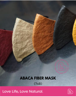 7xb Abaca Fiber Mask with MASK STORAGE BOX