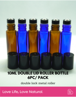 10ml Double Lid Roller Bottle