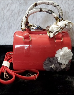 Beachkins mini jelly red with flowers