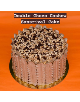 DOUBLE CHOCOLATE Sansrival Cake