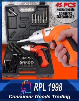 45 Pcs. Rechargeable Cordless Screwdriver