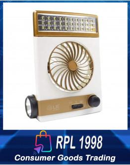 Solar Emergency Light Lamp Fan