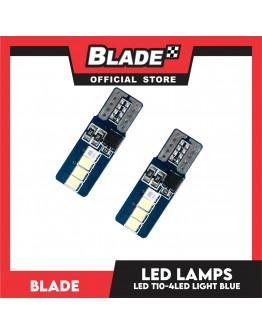 Blade Decorative LED Lamps  T10 4LED (Light Blue)