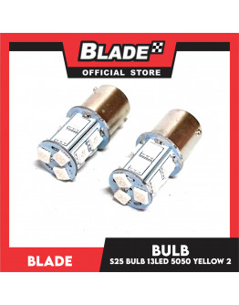 Blade Decorative LED Lamp S25 Bulb 13LED Yellow