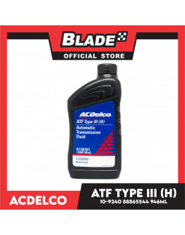 Blade ACDelco ATF Type III (H) Automatic Transmission Fluid 10-9240 88865544 946ml