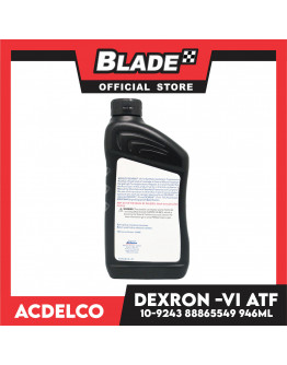 ACDelco Fully Synthetic DEXRON-VI Automatic Transmission Fluid 10-9243 946ml