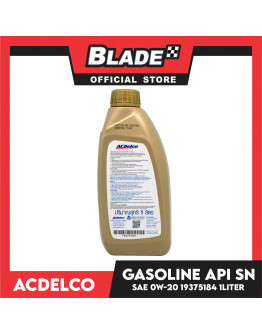 ACDelco Fully Synthetic Engine Oil Gasoline API SN SW 0W-20 Supreme Plus  1Liter