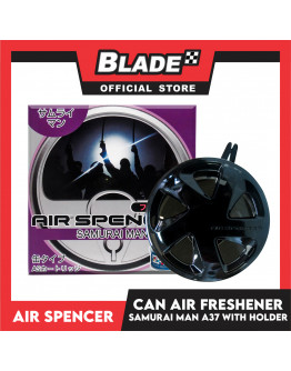 Air Spencer Car Air Freshener Can Samurai Man A37 with Holder