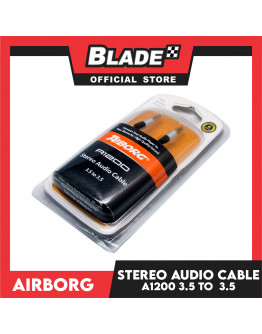 Airborg Sterio Audio Cable A1200 3.5 to 3.5 (Black)