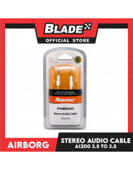Airborg Sterio Audio Cable A1200 3.5 to 3.5 (Whiite)