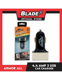 Armor All 4.4 AMP 3 USB Car Charger #ACC8-1002