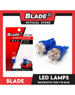 Blade Decorative LED Lamps T10-7LED 12V (Blue)