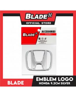 Blade Emblem Honda Logo Chrome 9.2cm with 3M adhesive ready