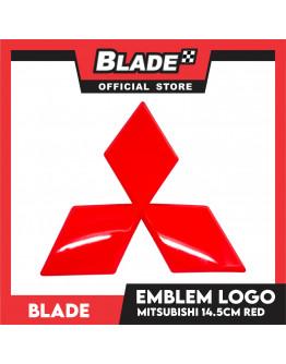 Blade Emblem Mitsubishi Logo Red 14.5cm with 3M adhesive ready