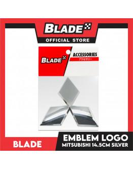 Blade Emblem Mitsubishi Logo Chrome 14.5cm with 3M adhesive ready