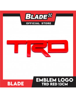 Blade Emblem TRD Logo 130mm (Red) with 3M adhesive ready
