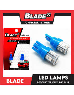 Blade Decorative LED Lamps T10-10LED 12V (Blue)