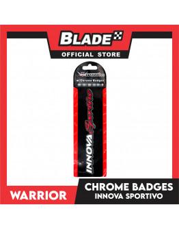 Blade Emblem Chrome Badges for Innova Sportivo with 3M adhesive ready