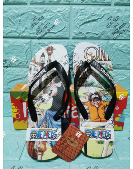 HAVAIANAS SLIPPERS | ONE PIECE INSPIRED FOR MEN | USA 8, EUR 41/42, BRAZIL 39/40