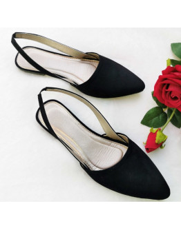NN#169 Sling back Half shoes Pointed Flat Suede Long Sling Back Half Shoes (Narrow Fit)