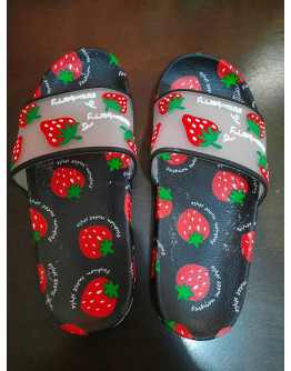 FRUIT STRAWBERRY DESIGN SLIPPERS {SIZE 37 AND SIZE 38}
