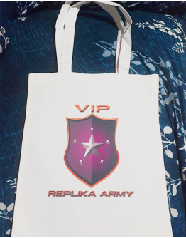 Canvas Bag with Replika and blessed Print!