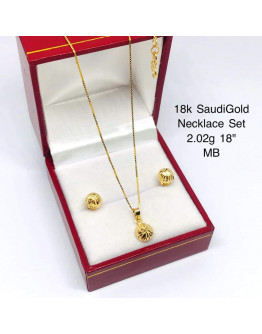 Set Necklace 18k SaudiGold