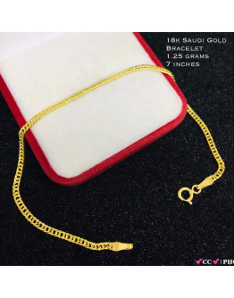 18k Bracelet Lightweight Saudi Gold