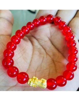 24k Piyao Bracelet Red