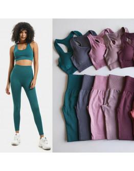 High Waist Yoga Pants 2 Pcs Set