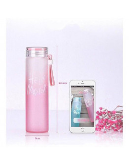 Portable Frosted Glass Bottle Cup