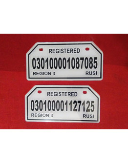 Arem MOTORCYCLE PLATE NUMBER