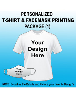 Arem PERSONALIZED T-SHIRT & FACEMASK PRINTING PACKAGE (1)
