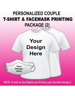 Arem PERSONALIZED COUPLE T-SHIRT & FACEMASK PRINTING PACKAGE (2)