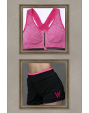 2-1 SHORTS LEGGINGS w/ SPORTS BRA